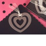 Mark It with Memories Heart within Heart Design Bookmark