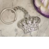 Silver Royal Crown Keychain
