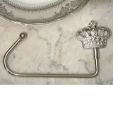 Silver Royal Crown Bag Holder