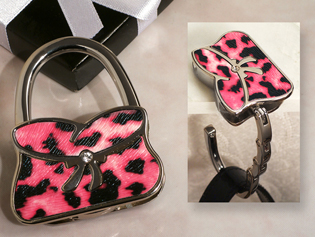 Stylish Pink and Black Pattern Handbag Holder
