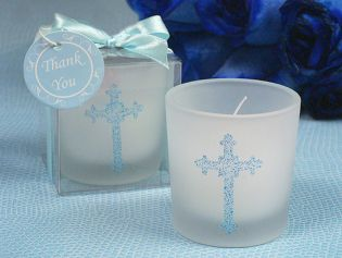 Blessed Events Cross Design Candle Holder