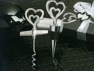 Two Hearts Are Better Than One Wine Opener & Bottle Stopper Combination