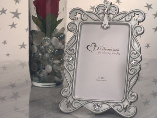 Blessed Events Cross Design Photo Frame