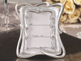 Modern Silver Place Card Frame