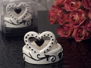Stylish Damask Candle Holder