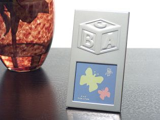 Silver Photo Frame with ABC Block