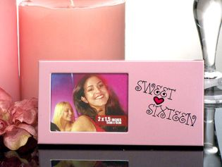 Sweet 16 Pink Metal Photo Frame