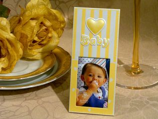 Embossed Heart Baby Photo Frame