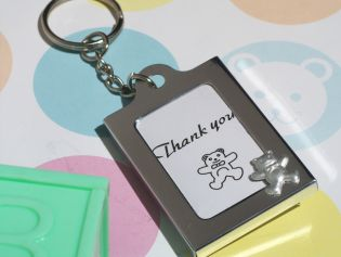 Memorable Moments Teddy Bear Keychain Photo Frame Favors