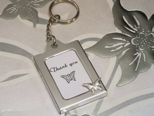 Memorable Moments Butterfly Design Keychain Photo Frame Favors