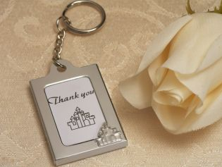 Memorable Moments Enchanted Castle Design Keychain Photo Frame Favors