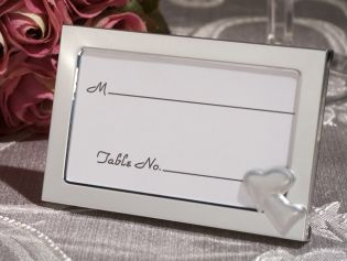 Two Hearts become one Place card frame.