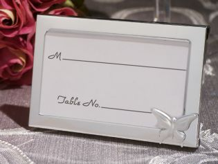 Graceful Butterfly Accented Place Card Frame