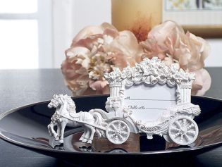 2x3 White Place Card Frame Wedding Coach