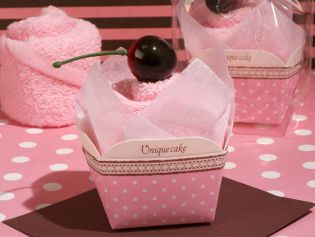 Sweet Treats Collection Cupcake Towel Favor