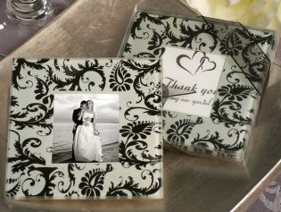 A Classic Damask Design Photo Coaster