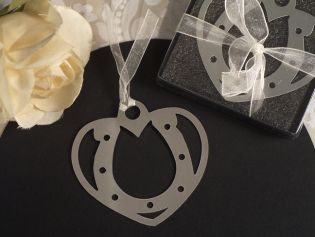 Mark It with Memories Lucky Horseshoe with Heart Design Bookmark