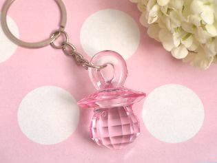 Pink Pacifier Keychain
