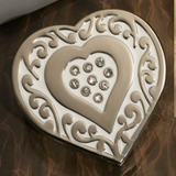 Ornate Heart Design Handbag Holder Favor