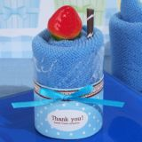 Sweet Treats Collection Fancy Blueberry Cupcake Towel Favor