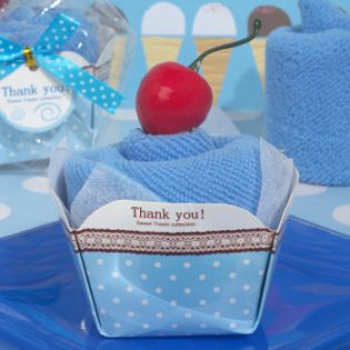 Sweet Treats Collection Blueberry Cupcake Towel Favor