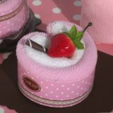 Sweet Treats Collection Strawberry Heart Shape Cupcake Towel Favor