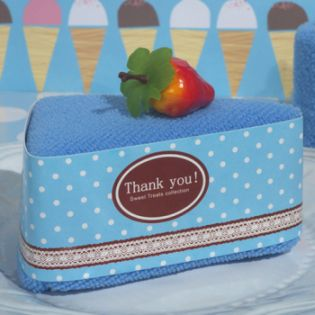 Sweet Treats Collection Blueberry Cheesecake Towel Favor