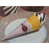 Sweet Treats Collection Chocolate Swirl Ice Cream Cone Towel Favor