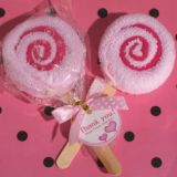 Sweet Treats Collection Pink Lollipop Towel Favor