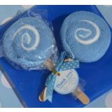 Sweet Treats Collection Blue Lollipop Towel Favor