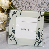 Lovebirds Design Glass Place Card Frame