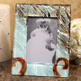 Murano Bling Silver and Amber Photo Frame