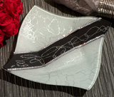 Murano Bling Silver and Black Square Tray