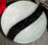 Murano Bling Silver and Black Round Tray