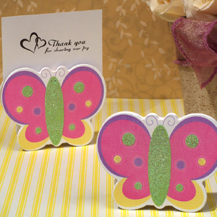Playful Butterfly Place Card Holder