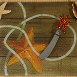 Murano collection Starfish design cheese board and Knife set