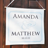 Flourish Custom Wedding Banner