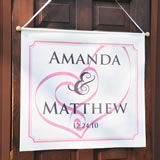 Embracing Hearts Custom Wedding Banner