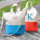 Color Dipped Canvas Tote