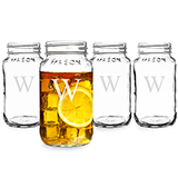 Personalized 16oz. Mason Jars (Set of 4)