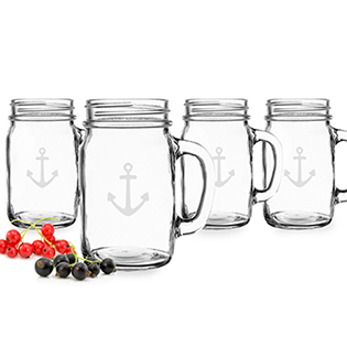 Anchor Old Fashioned Drinking Jars (Set of 4)
