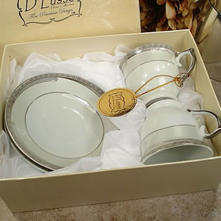 2 Cup 2 Saucer in Square Box - Modern
