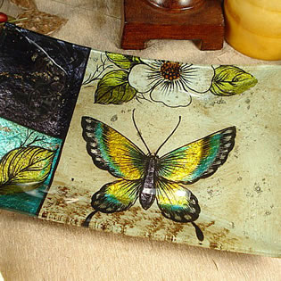Small Deco Platter - Butterfly Design