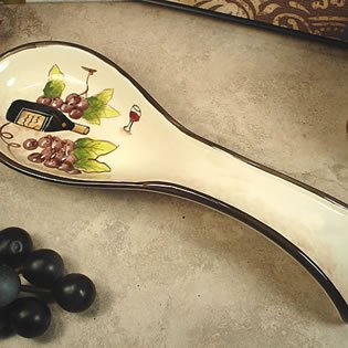 Spoon Rest - Red Wine Design