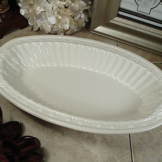 Couture Line Ceramic Deep Oval Bowl