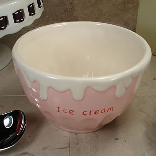 Ceramic Ice Cream Bowl - Pink