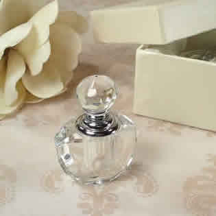 Mini Crystal Perfume Bottle in Satin-Lined Heart Box