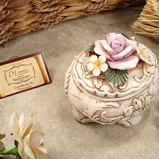 Oval Roses Capo Trinket Box