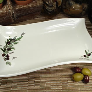 Swirl Dish with Olive Design