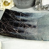 Small Deco Platter - Black & Silver Design